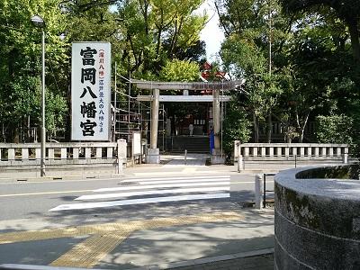 富岡八幡宮の入り口(横)