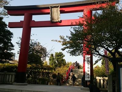 亀戸天神社の正面鳥居