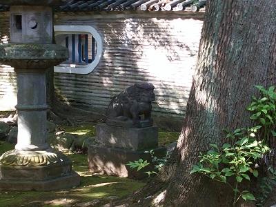 氷川神社の狛犬(左)