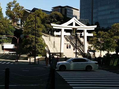 日枝神社の裏参道