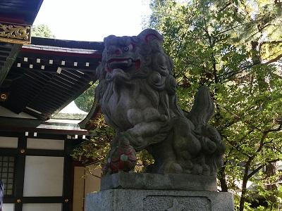 王子神社の獅子