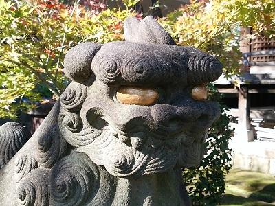白山神社の狛犬アップ